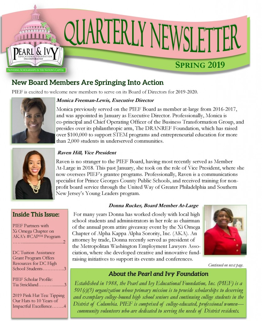 PIEF newsletter spring 2019-1 - Edited