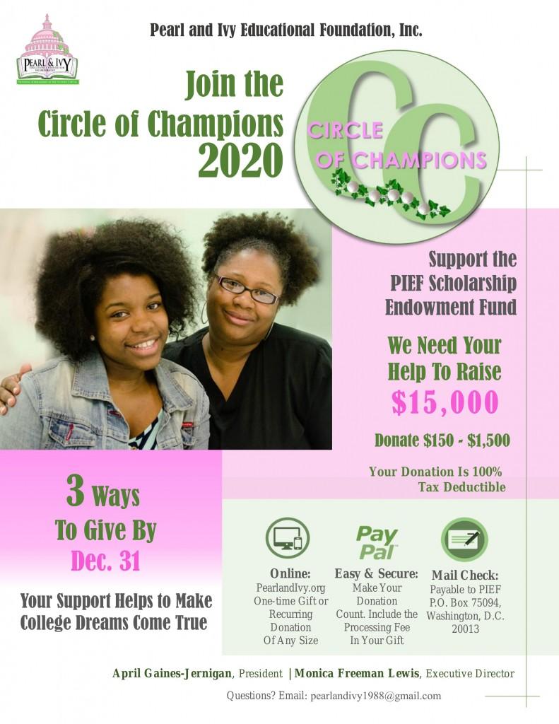 2020 PIEF Circle of Champions